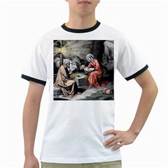 The Birth Of Christ Ringer T Shirts by Valentinaart