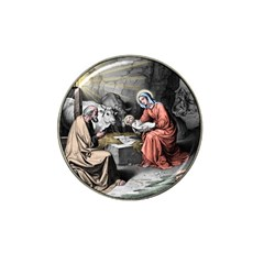 The Birth Of Christ Hat Clip Ball Marker by Valentinaart