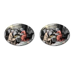 The Birth Of Christ Cufflinks (oval) by Valentinaart