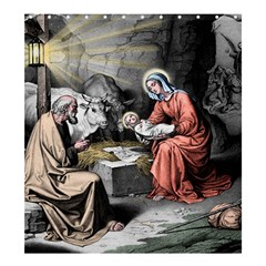 The Birth Of Christ Shower Curtain 66  X 72  (large)  by Valentinaart