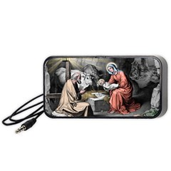 The Birth Of Christ Portable Speaker by Valentinaart