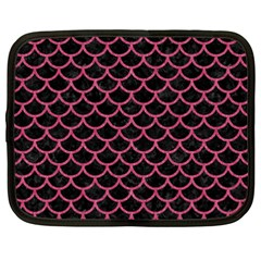 Scales1 Black Marble & Pink Denim (r) Netbook Case (xxl)  by trendistuff