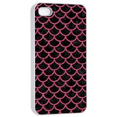 Scales1 Black Marble & Pink Denim (r) Apple Iphone 4/4s Seamless Case (white) by trendistuff