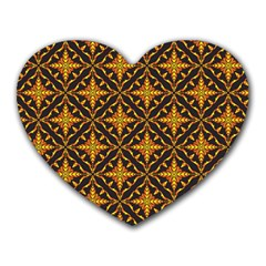 Christmas Pattern Heart Mousepads by tarastyle