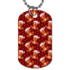 Christmas Pattern Dog Tag (one Side) by tarastyle