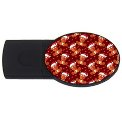 Christmas Pattern Usb Flash Drive Oval (2 Gb) by tarastyle