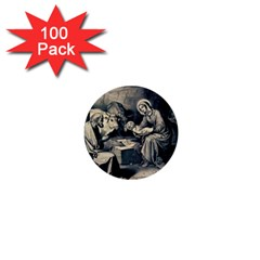 The Birth Of Christ 1  Mini Buttons (100 Pack)  by Valentinaart
