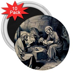 The Birth Of Christ 3  Magnets (10 Pack)  by Valentinaart