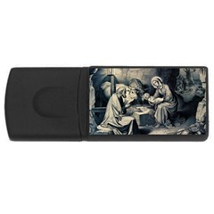 The Birth Of Christ Rectangular Usb Flash Drive by Valentinaart