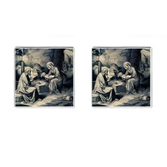 The Birth Of Christ Cufflinks (square) by Valentinaart