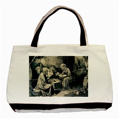 The Birth Of Christ Basic Tote Bag by Valentinaart