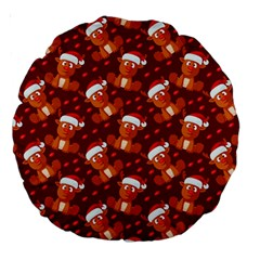 Christmas Pattern Large 18  Premium Round Cushions by tarastyle