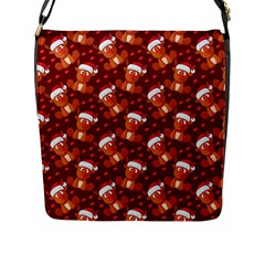 Christmas Pattern Flap Messenger Bag (l)  by tarastyle