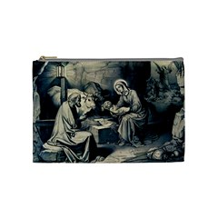 The Birth Of Christ Cosmetic Bag (medium)  by Valentinaart