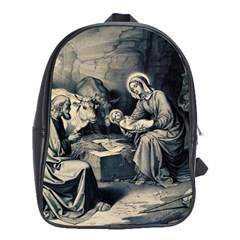 The Birth Of Christ School Bag (large) by Valentinaart