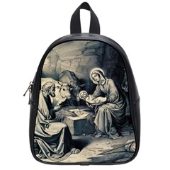 The Birth Of Christ School Bag (small) by Valentinaart