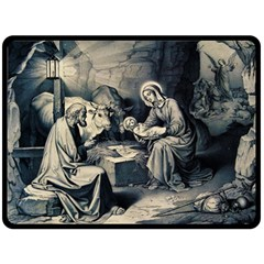 The Birth Of Christ Double Sided Fleece Blanket (large)  by Valentinaart