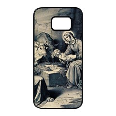The Birth Of Christ Samsung Galaxy S7 Edge Black Seamless Case by Valentinaart