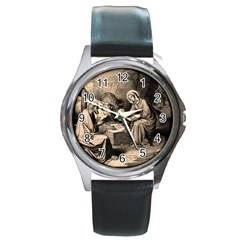 The Birth Of Christ Round Metal Watch
