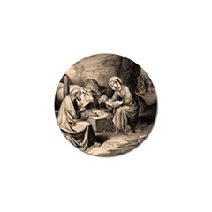 The Birth Of Christ Golf Ball Marker (4 Pack) by Valentinaart