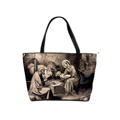 The Birth Of Christ Shoulder Handbags by Valentinaart