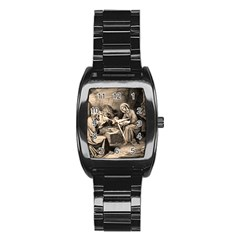 The Birth Of Christ Stainless Steel Barrel Watch