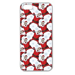 Christmas Pattern Apple Seamless Iphone 5 Case (clear) by tarastyle