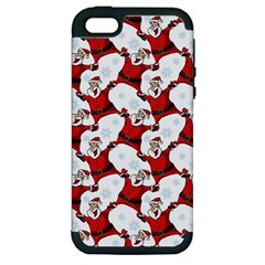 Christmas Pattern Apple Iphone 5 Hardshell Case (pc+silicone) by tarastyle