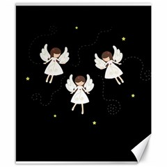 Christmas Angels  Canvas 8  X 10  by Valentinaart