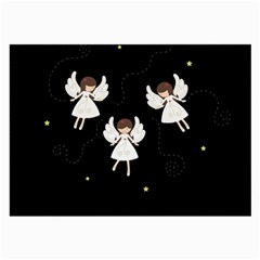 Christmas Angels  Large Glasses Cloth (2 Side) by Valentinaart
