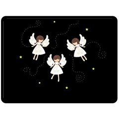 Christmas Angels  Fleece Blanket (large)