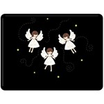Christmas angels  Fleece Blanket (Large)  80 x60 Blanket Front