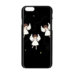 Christmas Angels  Apple Iphone 6/6s Black Enamel Case by Valentinaart