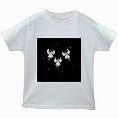 Christmas Angels  Kids White T Shirts