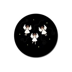 Christmas Angels  Magnet 3  (round) by Valentinaart