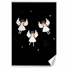 Christmas Angels  Canvas 12  X 18   by Valentinaart