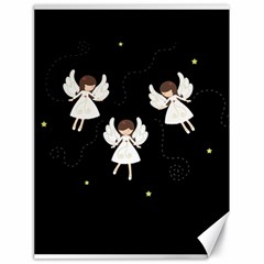 Christmas Angels  Canvas 18  X 24   by Valentinaart
