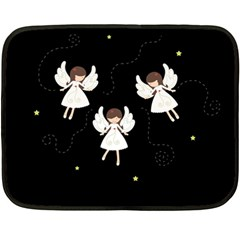 Christmas Angels  Double Sided Fleece Blanket (mini)  by Valentinaart