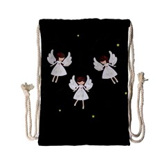 Christmas Angels  Drawstring Bag (small) by Valentinaart