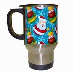 Christmas Pattern Travel Mugs (white) by tarastyle