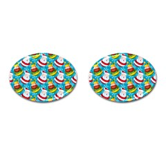 Christmas Pattern Cufflinks (oval) by tarastyle