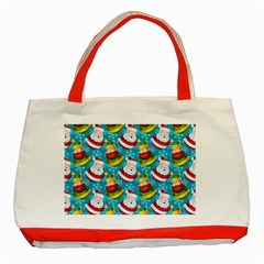 Christmas Pattern Classic Tote Bag (red) by tarastyle
