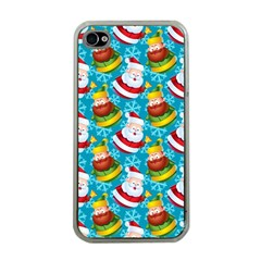 Christmas Pattern Apple Iphone 4 Case (clear) by tarastyle