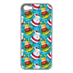 Christmas Pattern Apple Iphone 5 Case (silver) by tarastyle