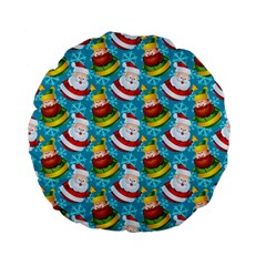 Christmas Pattern Standard 15  Premium Flano Round Cushions by tarastyle