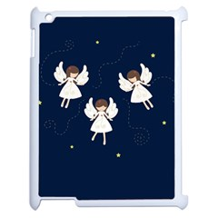 Christmas Angels  Apple Ipad 2 Case (white) by Valentinaart