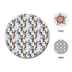 Christmas Pattern Playing Cards (round)  by tarastyle