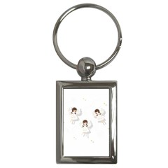 Christmas Angels  Key Chains (rectangle)  by Valentinaart