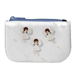 Christmas Angels  Large Coin Purse by Valentinaart