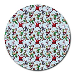 Christmas Pattern Round Mousepads by tarastyle